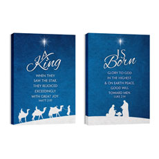 Christmas Blue Canvas Print