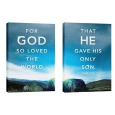 For God So Loved Pair Wall Art