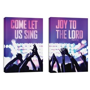 Let Us Sing Pair Wall Art