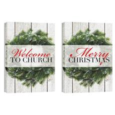 Wreath Pair Canvas Print
