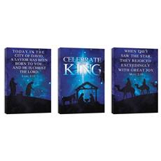Celebrate the King Triptych Canvas Print