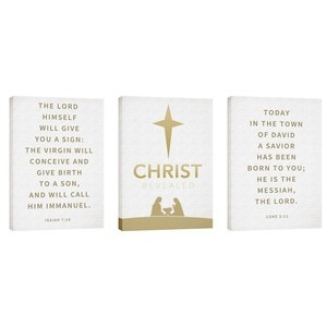 Christ Revealed Triptych Wall Art