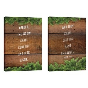 Matthew 1:23 Pair Wall Art