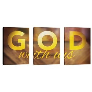 God With Us Manger Triptych Wall Art