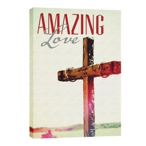 Amazing Love Cross 24in x 36in Canvas Prints