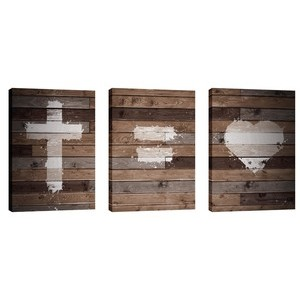 Cross Equals Love 24in x 36in Canvas Prints