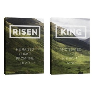 Risen King Hillside Pair 24in x 36in Canvas Prints