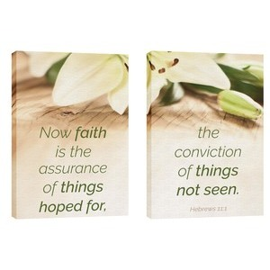 Faith Lilies Pair 24in x 36in Canvas Prints