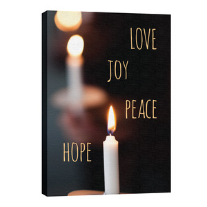 Candle Advent Words 24in x 36in Canvas Prints