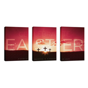Celebrate Easter Crosses Wall Art