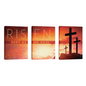 Risen Crosses Triptych 24in x 36in Canvas Prints
