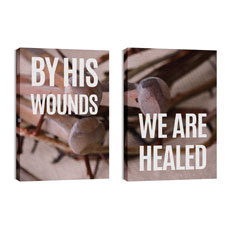 By His Wounds Pair Wall Art