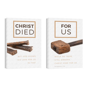 Died For Us Rom 5:8 Wall Art