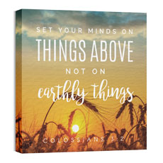 Photo Scriptures Col 3:2 Wall Art