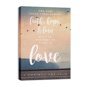 Photo Scriptures 1 Cor 13:13 Wall Art
