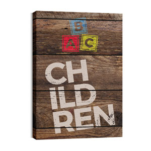 Shiplap Children Natural 24in x 36in Canvas Prints