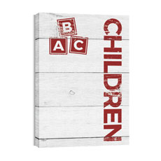 Shiplap Children White Wall Art