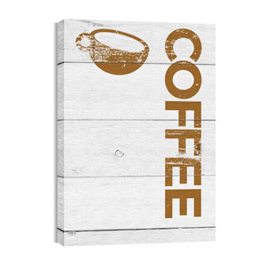 Shiplap Coffee White 24in x 36in Canvas Prints
