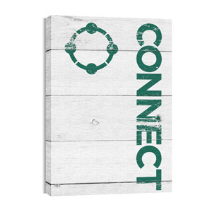 Shiplap Connect White 24in x 36in Canvas Prints