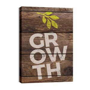 Shiplap Growth Natural 24in x 36in Canvas Prints