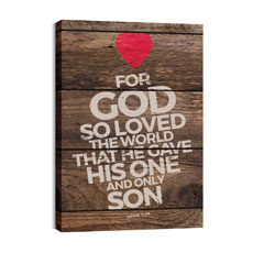 Shiplap John 3:16 Natural Wall Art