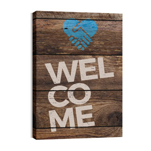 Shiplap Welcome Natural Wall Art