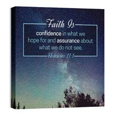 Heb 11:1 Faith Is Wall Art