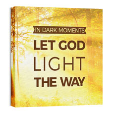 Let God Light Wall Art