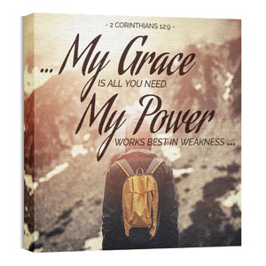 My Grace My Power Wall Art