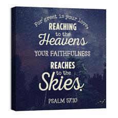Skies Psalm 57:10 Wall Art