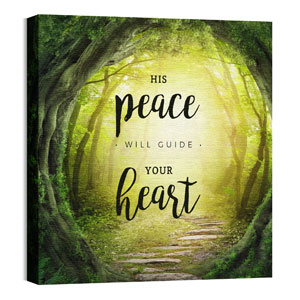 His Peace Will Guide Wall Art