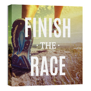 Finish The Race Wall Art