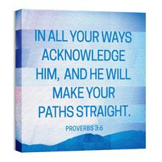 Modern Mosaic Prov 3:6 Wall Art
