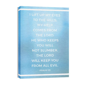 Shimmer Psalm 121 24in x 36in Canvas Prints