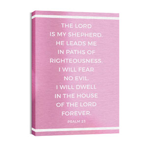 Shimmer Psalm 23 Wall Art
