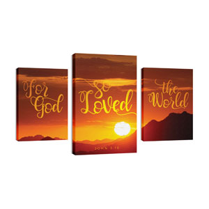John 316 Sunrise Wall Art