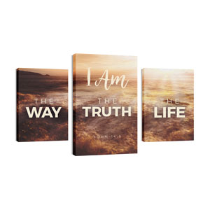 Way Truth Life 30in x 50in Canvas Prints
