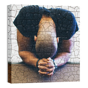Mod Person Praying 24 x 24 Canvas Prints