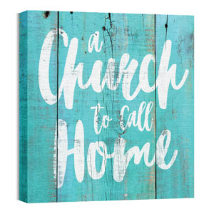 Mod Church Home 24 x 24 Canvas Prints