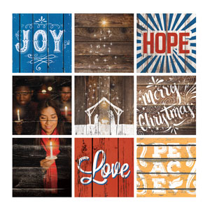 Mod Advent Set 24 x 24 Canvas Prints