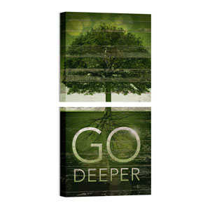 Mod Go Deeper Pair 24 x 24 Canvas Prints