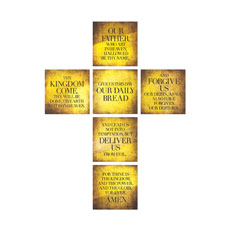 Mod Lords Prayer Cross Set Wall Art