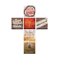 Mod Jesus Cross Set Wall Art