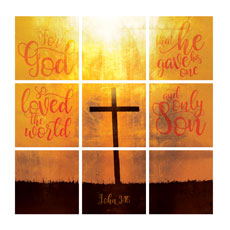 Mod Gold John 3 16 Set Wall Art