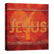 Mod Jesus Heart Wall Art