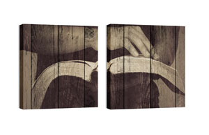 Mod Open Bible Pair Wall Art