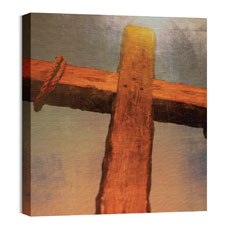 Mod Wood Cross Wall Art