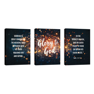 Glory to God Stars 24in x 36in Canvas Prints