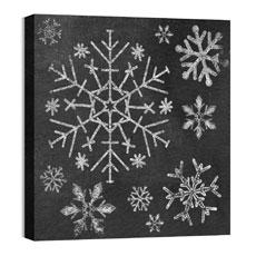 Mod Chalk Snowflakes Wall Art