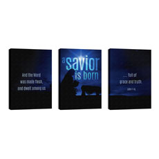 Blue Savior Born Wall Art